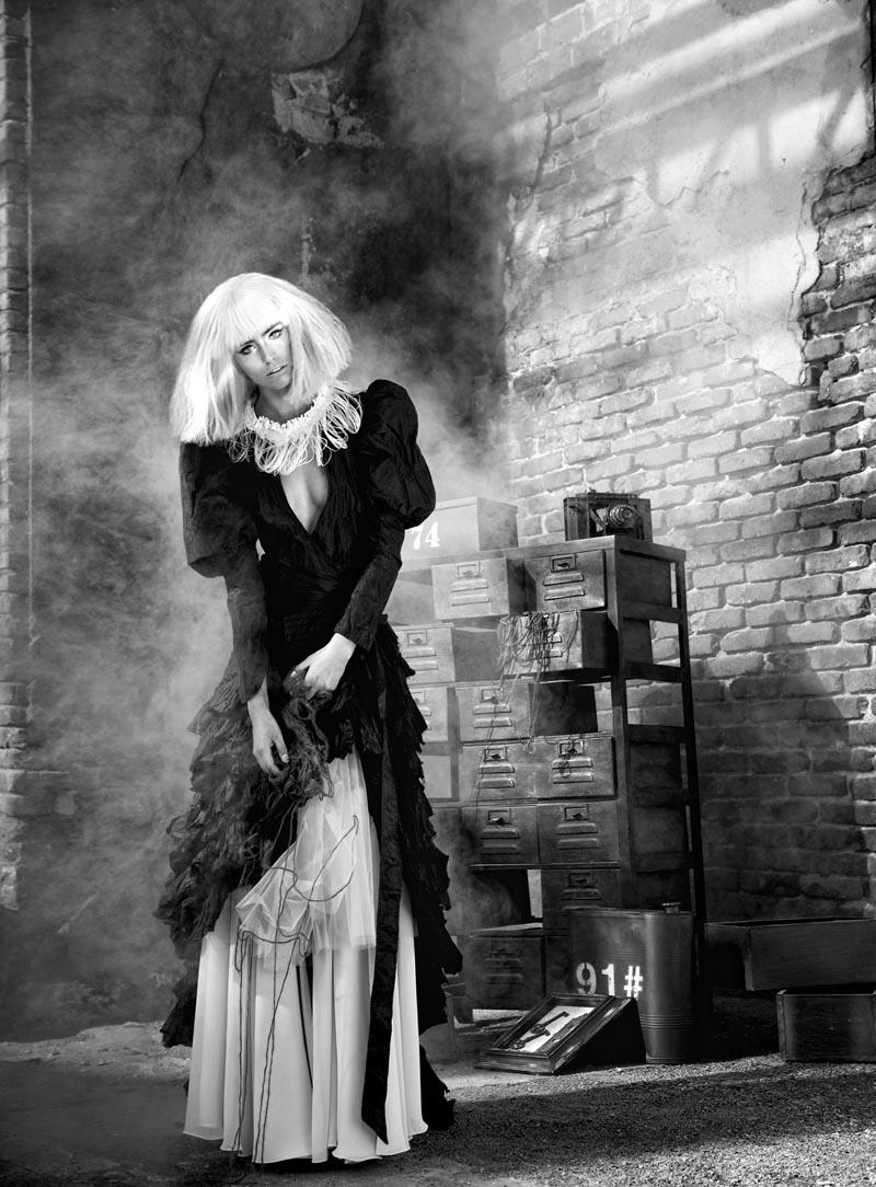 Koray Parlak Shoots Glamour with Edge for Elele Magazine November 2012