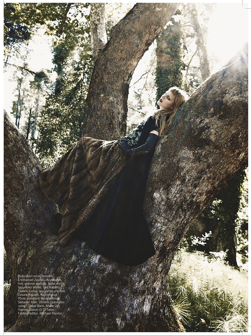sanne2 Dimitris Skoulos Lenses Enchanting Fall Looks for Vogue Hellas November 2012
