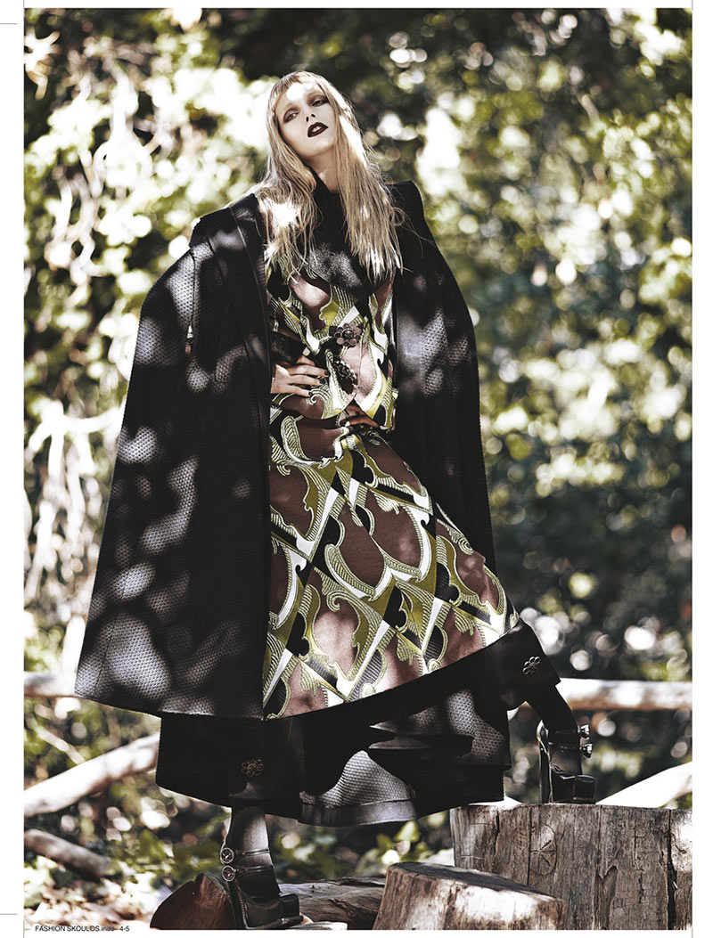sanne3 Dimitris Skoulos Lenses Enchanting Fall Looks for Vogue Hellas November 2012