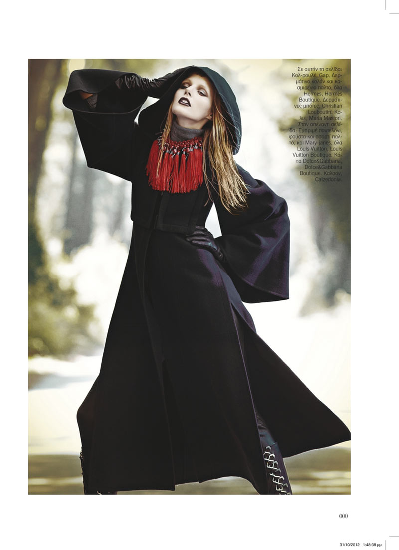 sanne4 Dimitris Skoulos Lenses Enchanting Fall Looks for Vogue Hellas November 2012