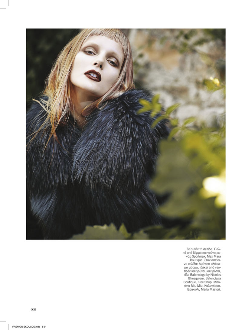sanne6 Dimitris Skoulos Lenses Enchanting Fall Looks for Vogue Hellas November 2012