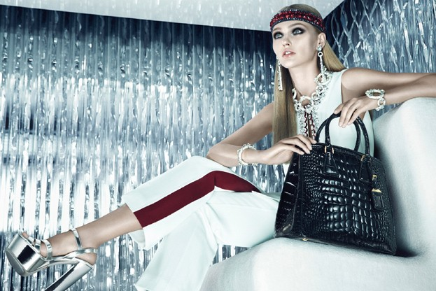 sasha prada1 Sasha Pivovarova is Sporty Glam for Pradas Resort 2013 Campaign by Steven Meisel