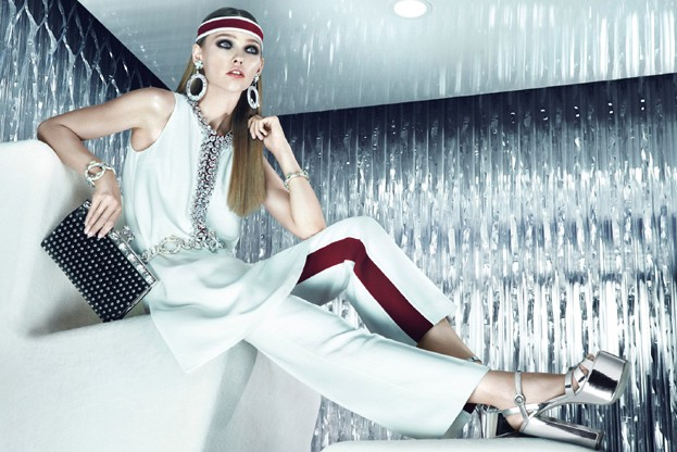 sasha prada10 Sasha Pivovarova is Sporty Glam for Pradas Resort 2013 Campaign by Steven Meisel