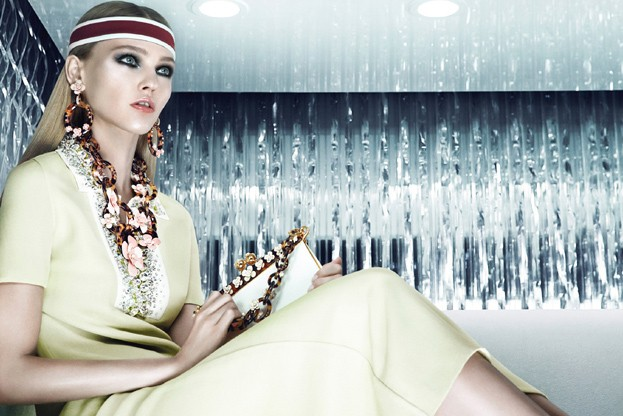 sasha prada6 Sasha Pivovarova is Sporty Glam for Pradas Resort 2013 Campaign by Steven Meisel