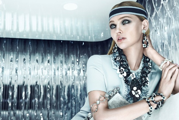 sasha prada8 Sasha Pivovarova is Sporty Glam for Pradas Resort 2013 Campaign by Steven Meisel