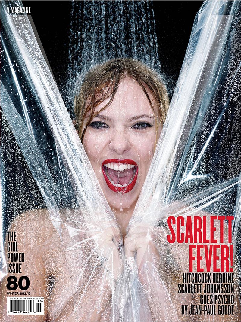 Scarlett Johansson Goes Psycho for the Cover of V Magazine #80