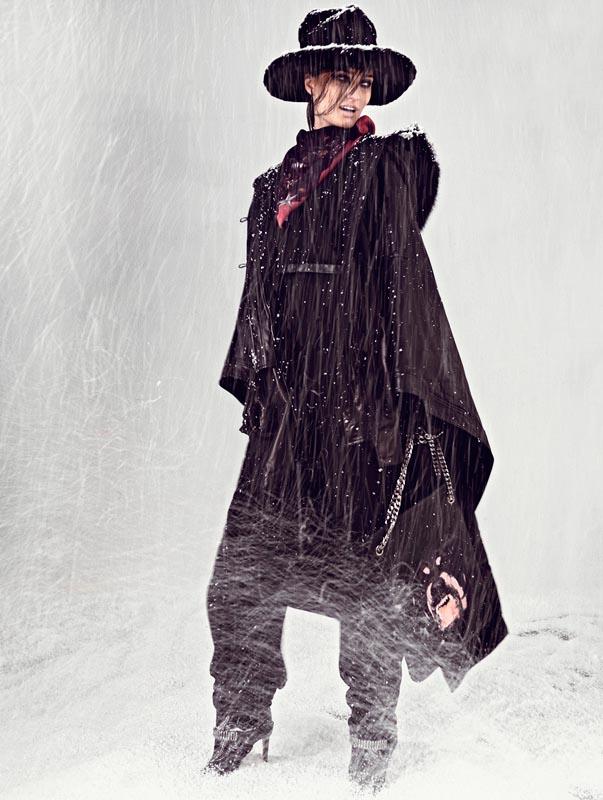 Igor Oussenko Captures Snow-Covered Looks for Stolnick Magazine