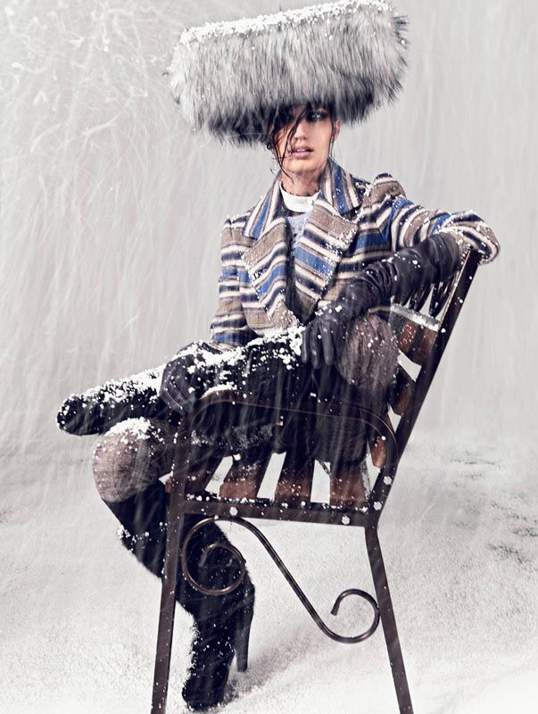 snow7 Igor Oussenko Captures Snow Covered Looks for Stolnick Magazine