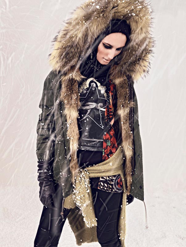 Igor Oussenko Captures Snow-Covered Looks for Stolnick Magazine