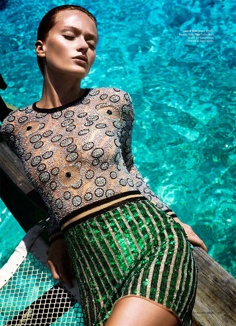 swim5 Annabella Barber Dives in for Harpers Bazaar Australia December 2012 by Simon Lekias