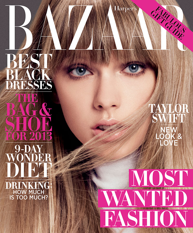 taylorcover1 Taylor Swift on the December/January Cover of Harpers Bazaar US