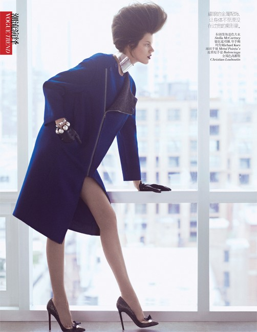 yee china10 Ming Xi and Antonia Wesseloh Sport Power Dressing for Vogue China November 2012 by Andrew Yee