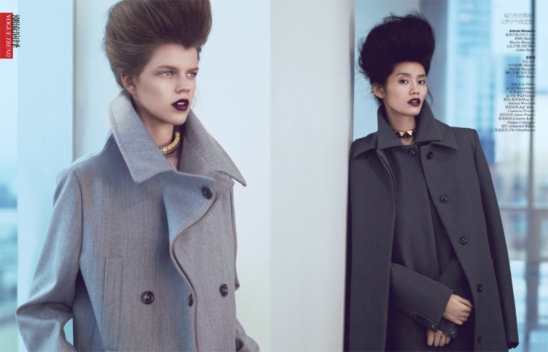 yee china2 Ming Xi and Antonia Wesseloh Sport Power Dressing for Vogue China November 2012 by Andrew Yee