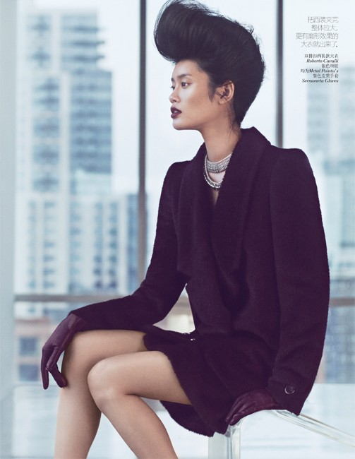 yee china3 Ming Xi and Antonia Wesseloh Sport Power Dressing for Vogue China November 2012 by Andrew Yee