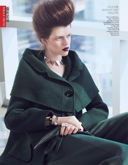 yee china4 Ming Xi and Antonia Wesseloh Sport Power Dressing for Vogue China November 2012 by Andrew Yee