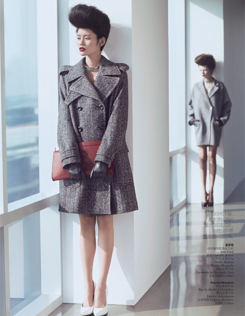 yee china7 Ming Xi and Antonia Wesseloh Sport Power Dressing for Vogue China November 2012 by Andrew Yee