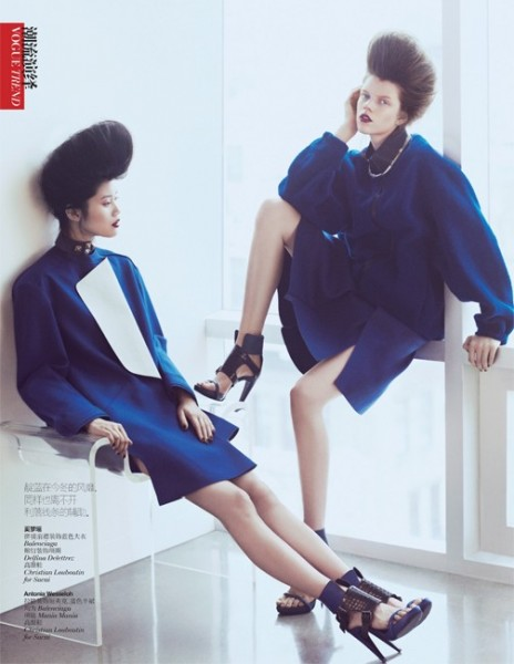 Ming Xi and Antonia Wesseloh Sport Power Dressing for Vogue China November 2012 by Andrew Yee