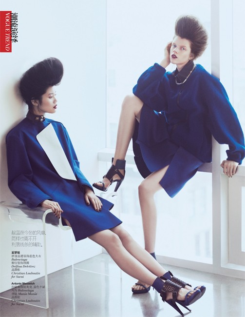 yee china8 Ming Xi and Antonia Wesseloh Sport Power Dressing for Vogue China November 2012 by Andrew Yee