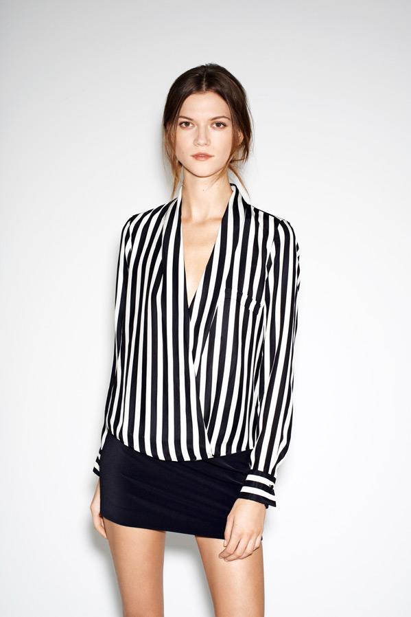 Kasia Struss Models Zara's December 2012 Lookbook