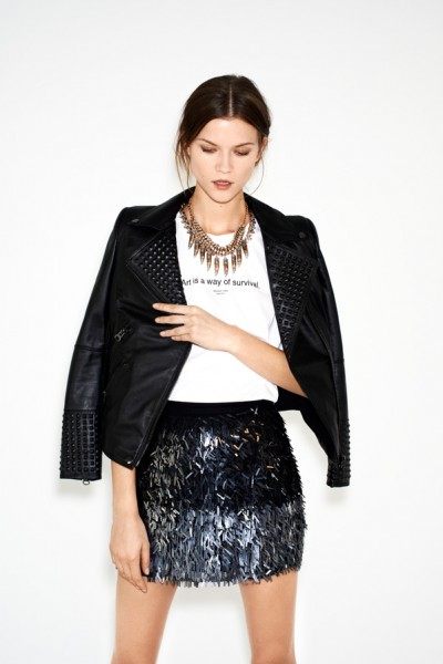 Kasia Struss Models Zara's December 2012 Lookbook
