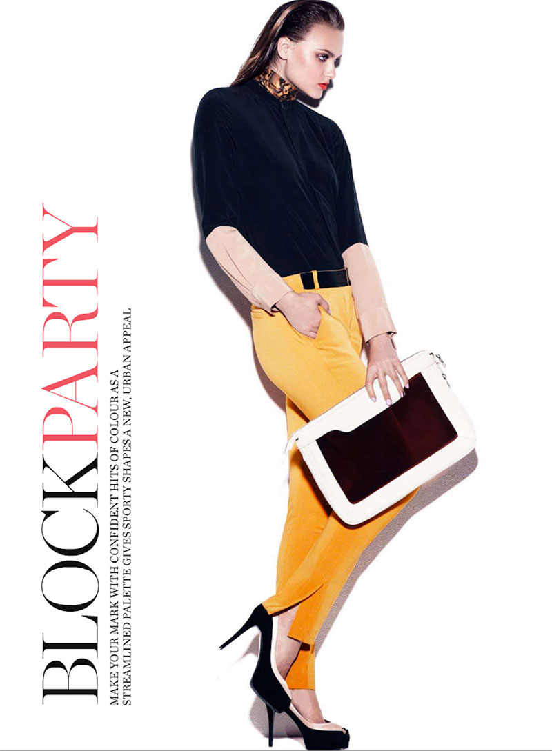 zuzana1 Zuzana Gregorova Sports Color Blocking for Marie Claire Australia November 2012