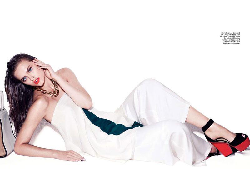 Zuzana Gregorova Sports Color Blocking for Marie Claire Australia November 2012