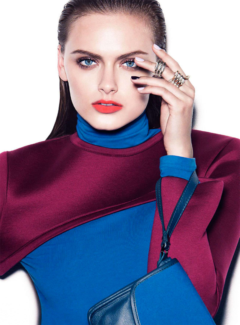 zuzana7 Zuzana Gregorova Sports Color Blocking for Marie Claire Australia November 2012