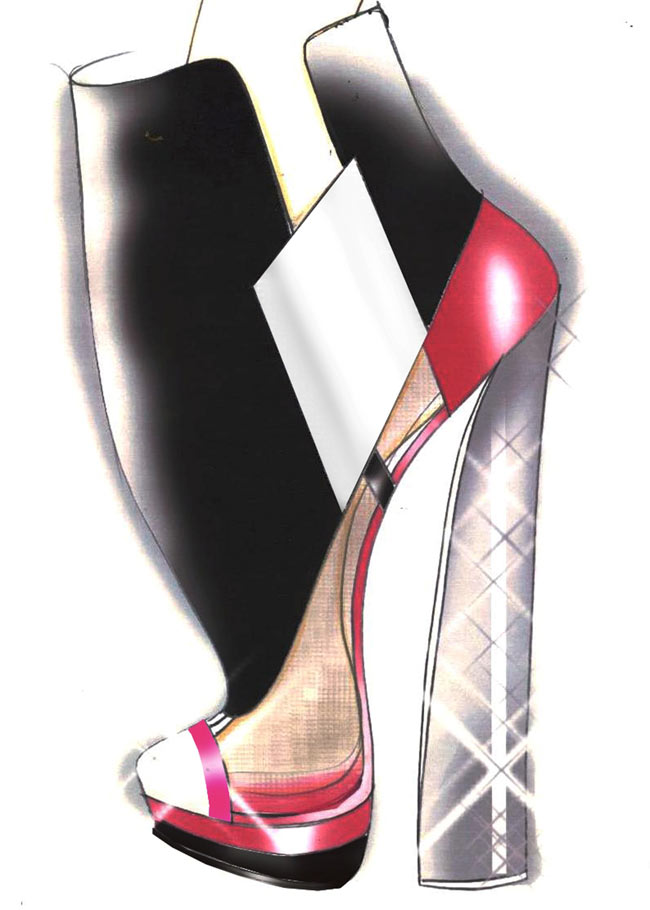 01 SKETCH CASADEI FOR PRABAL GURUNG PREFALL 2013 Casadei for Prabal Gurung Pre Fall 2013 Collection