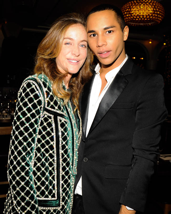 582250 Olivier Rousteing and Aurélie Bidermann Celebrate the Launch of the Balmain Pierre Bag
