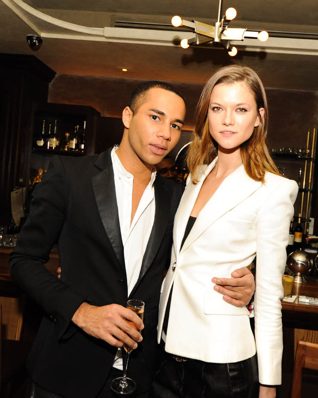582301 Olivier Rousteing and Aurélie Bidermann Celebrate the Launch of the Balmain Pierre Bag