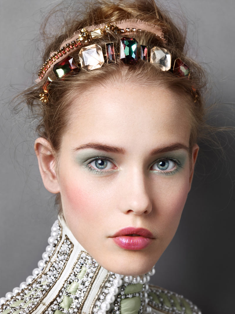 AW01 Michelle Wears Glam Headwear for Madame Figaro by Alexandre Weinberger