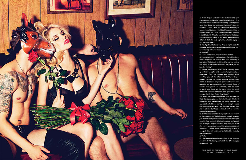 AshleyGalore11 Ashley Smith is Fetish Chic for Galore Magazine #1 by Ellen von Unwerth