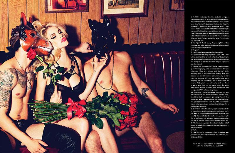 Ashley Smith is Fetish Chic for Galore Magazine #1 by Ellen von Unwerth