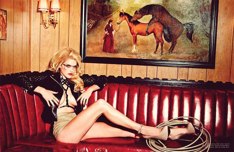 AshleyGalore4 Ashley Smith is Fetish Chic for Galore Magazine #1 by Ellen von Unwerth