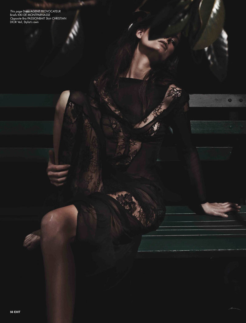 AvaExit4 Ava Smith Dons Romantic Style for Exit Magazine A/W 2012 by Benny Horne