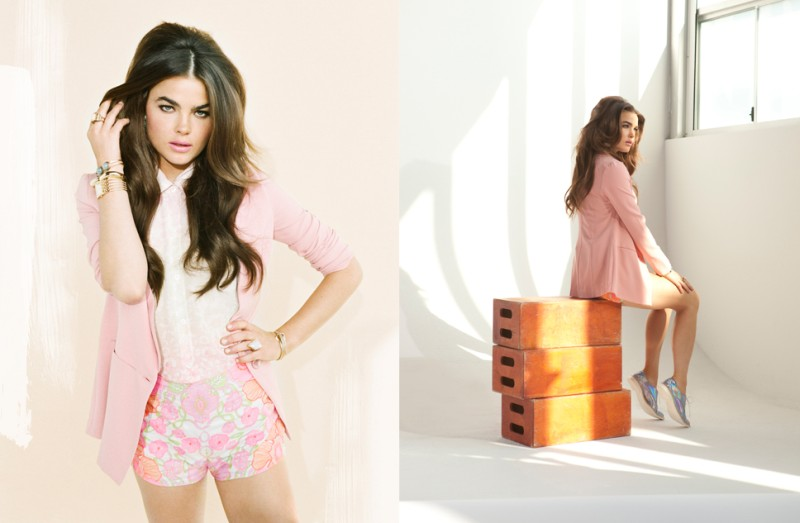 Bambi Northwood-Blyth is Pretty in Pastels for Nasty Gal's December Lookbook