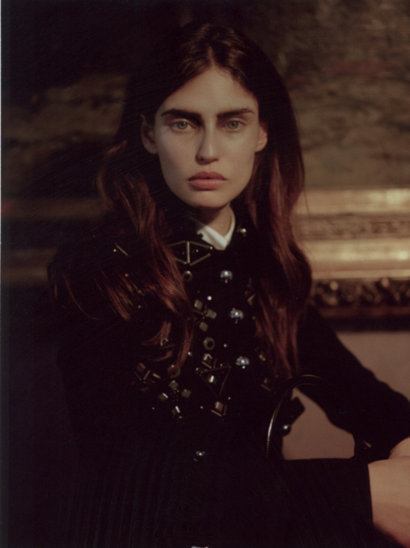 BiancaGrey4 Bianca Balti Poses for Manuela Pavesi in Grey Magazine F/W 2012