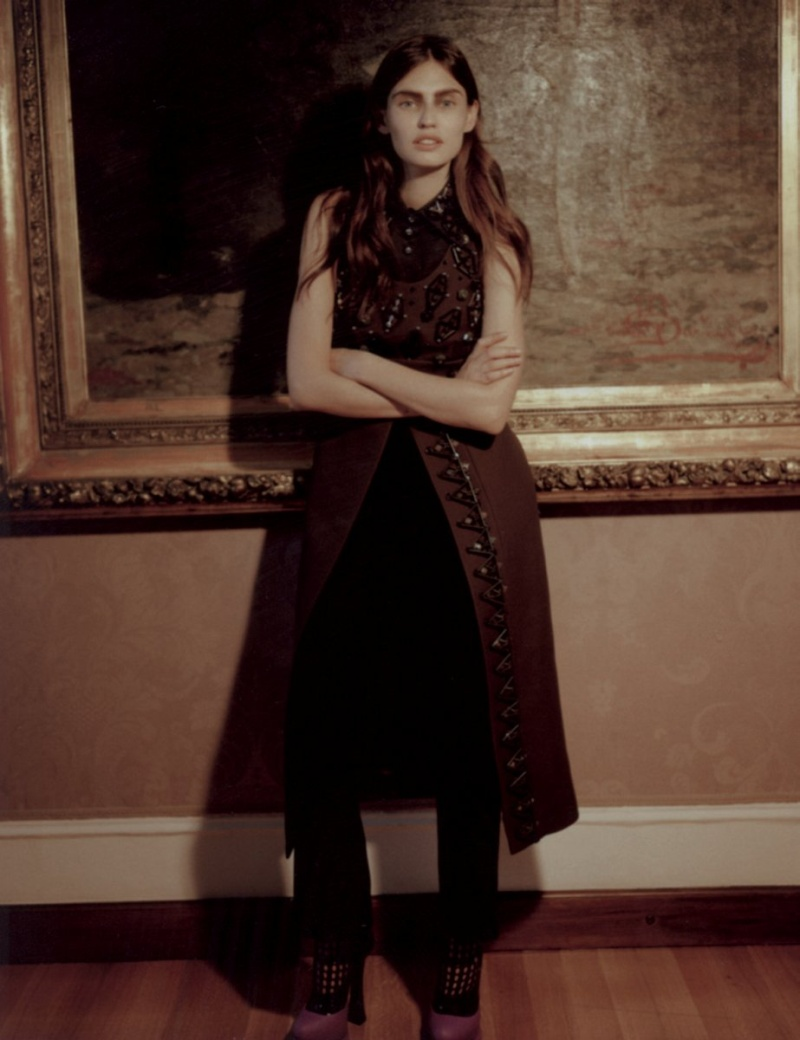 BiancaGrey8 Bianca Balti Poses for Manuela Pavesi in Grey Magazine F/W 2012