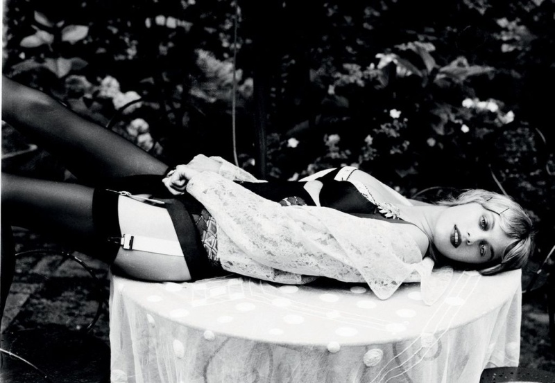 CamilleGrey1 Camille Rowe Poses for Ellen von Unwerth in Lingerie Looks for Grey F/W 2012