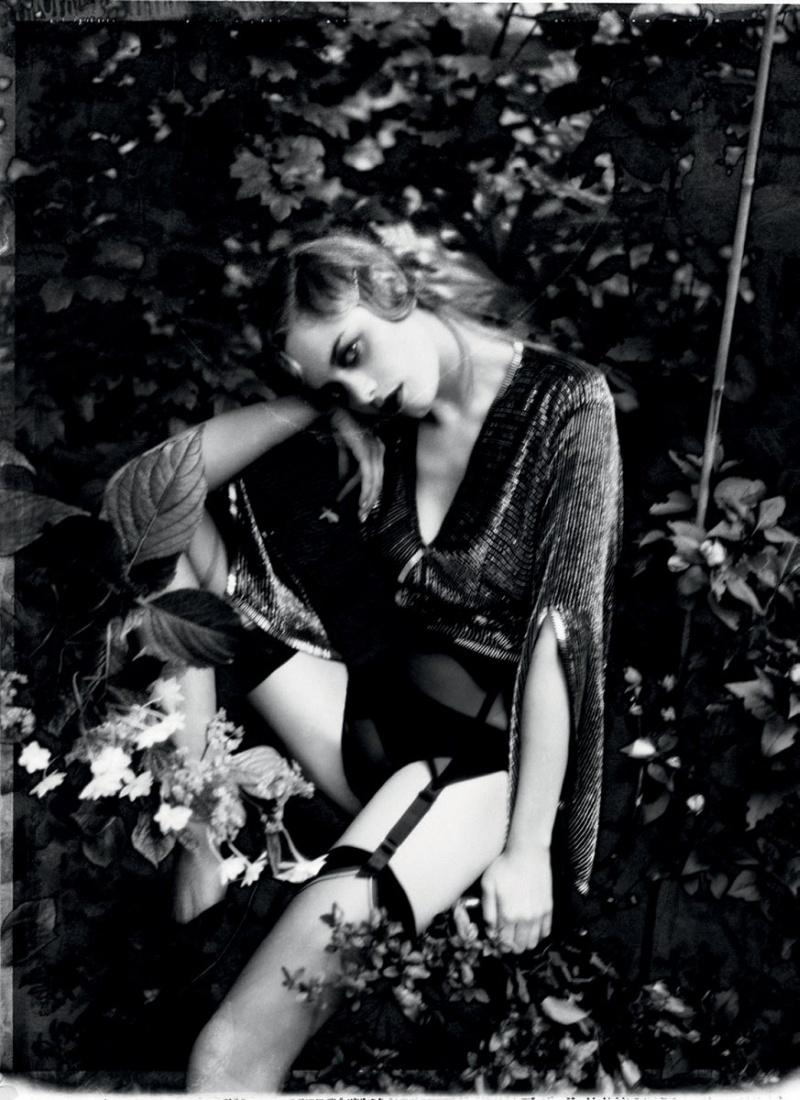 Camille Rowe Poses for Ellen von Unwerth in Lingerie Looks for Grey F/W 2012