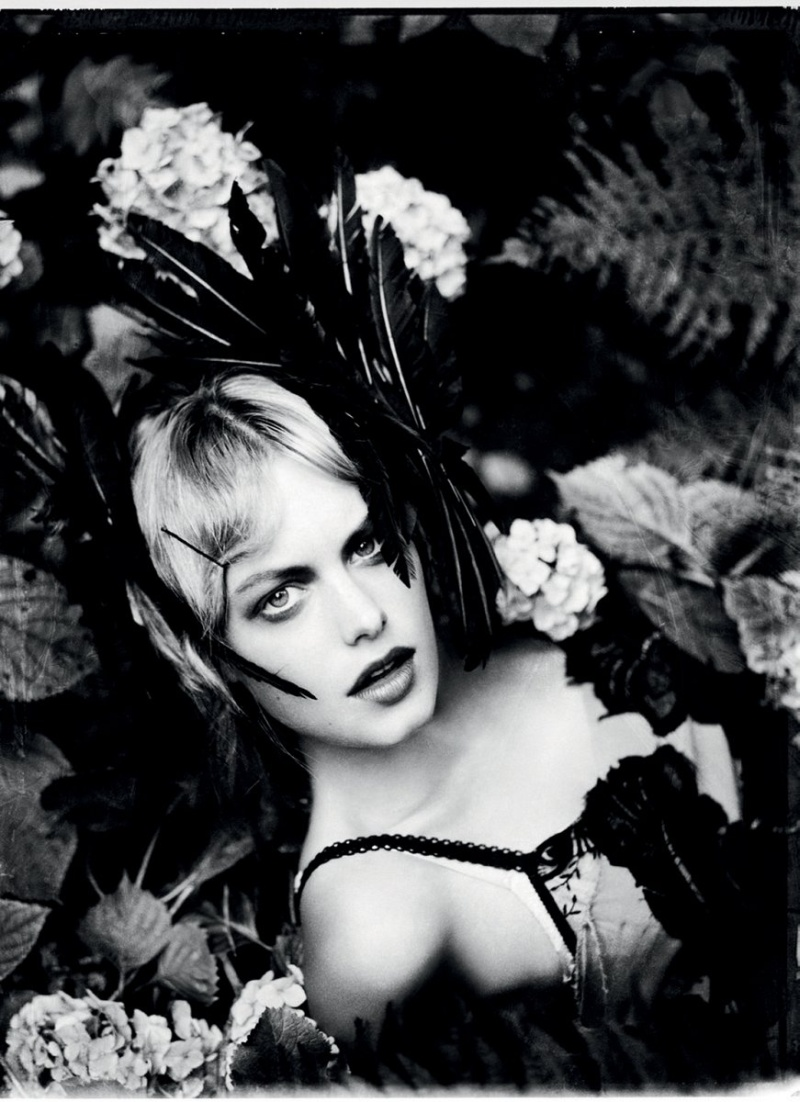 CamilleGrey9 Camille Rowe Poses for Ellen von Unwerth in Lingerie Looks for Grey F/W 2012