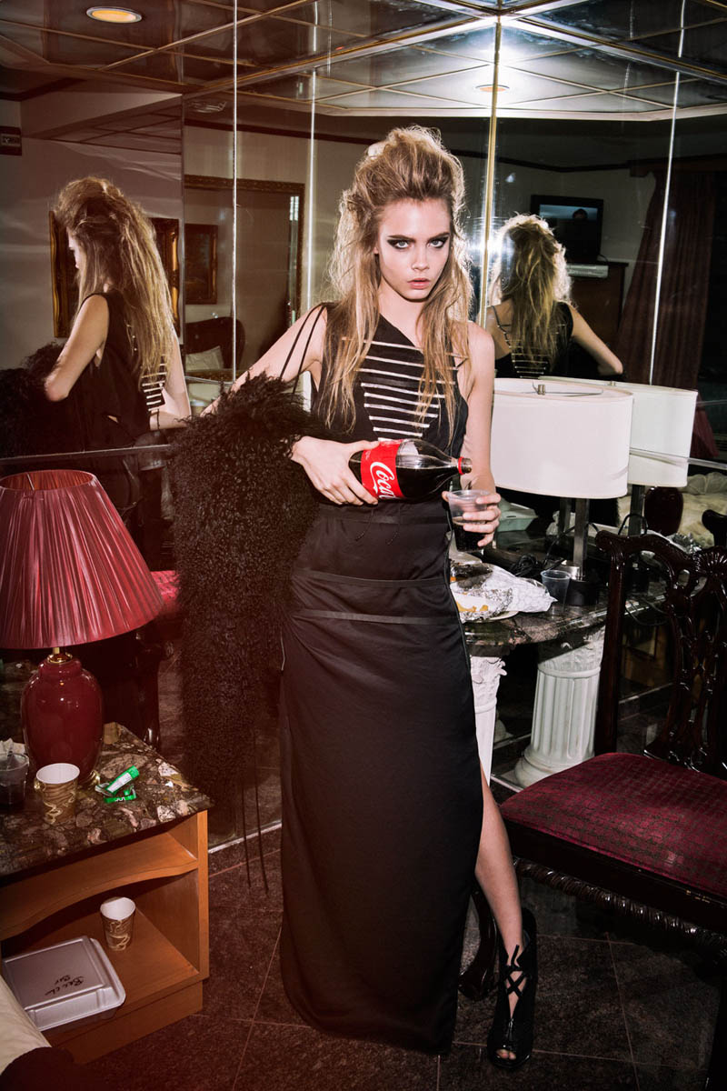 CaraHugh7 Cara Delevingne Dons Rocker Chic Style for The Journal #32 by Hugh Lippe