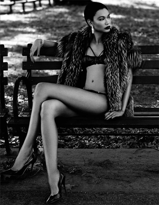 Chanel Iman Wows in Lingerie Looks for Deluxe Magazine, Shot by David Roemer
