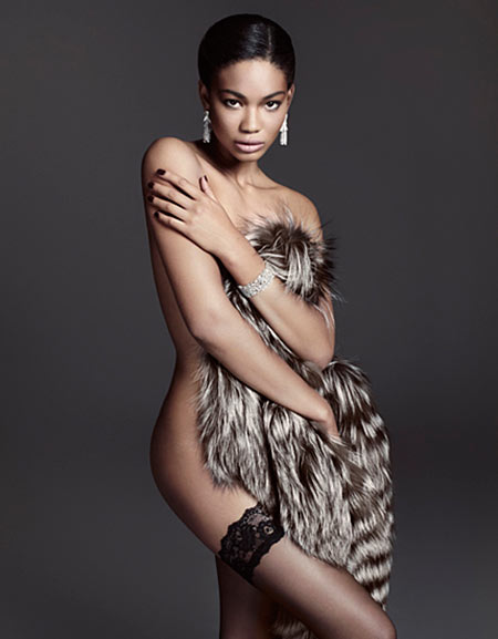 ChanelDeluxe6 Chanel Iman Wows in Lingerie Looks for Deluxe Magazine, Shot by David Roemer