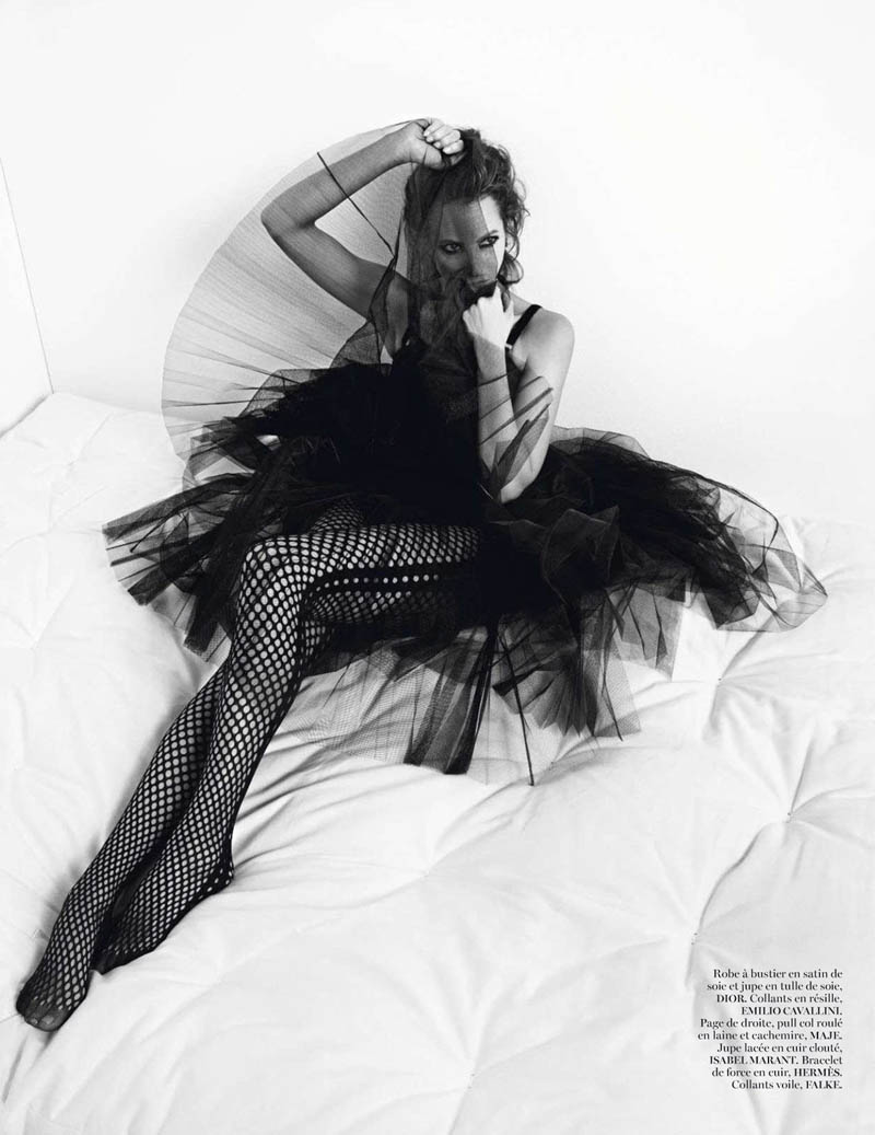 ChirstyIV4 Christy Turlington Gets Clad in Black for Vogue Paris Shoot by Inez & Vinoodh