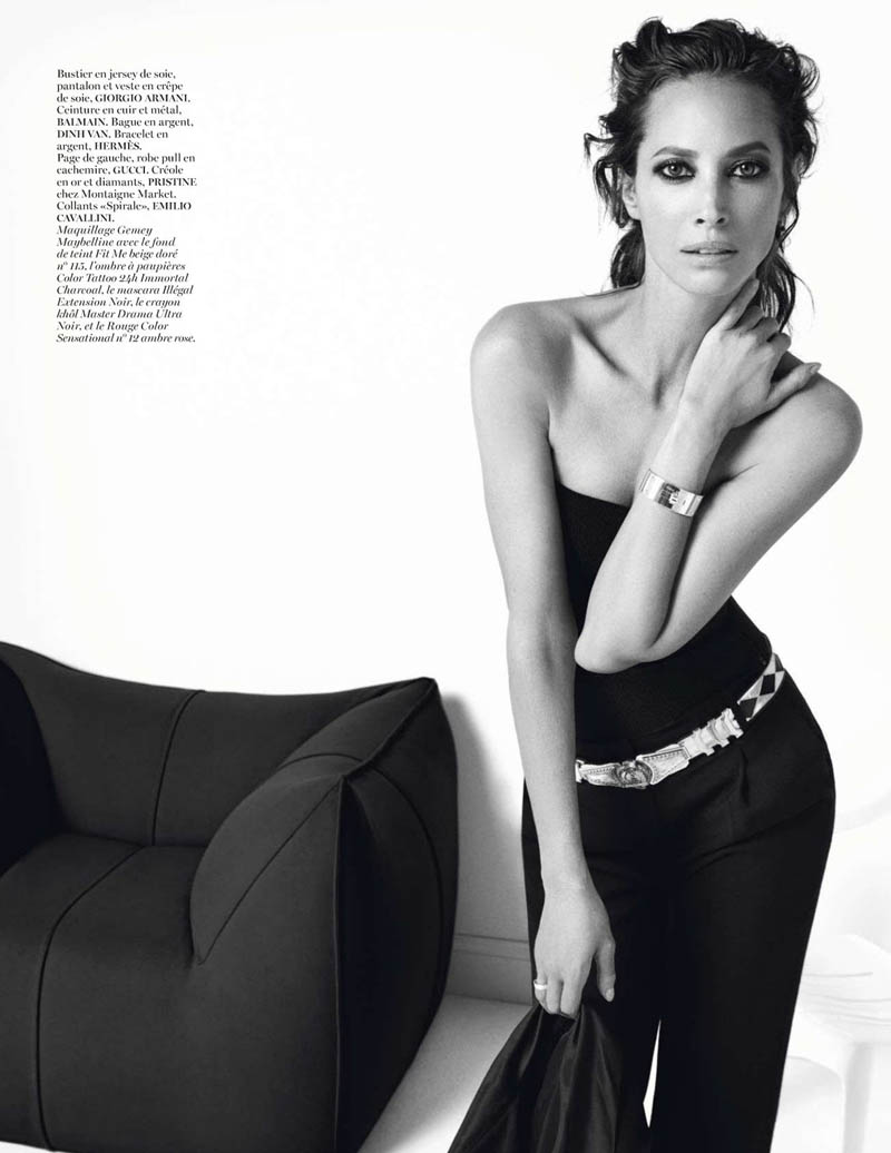 ChirstyIV6 Christy Turlington Gets Clad in Black for Vogue Paris Shoot by Inez & Vinoodh