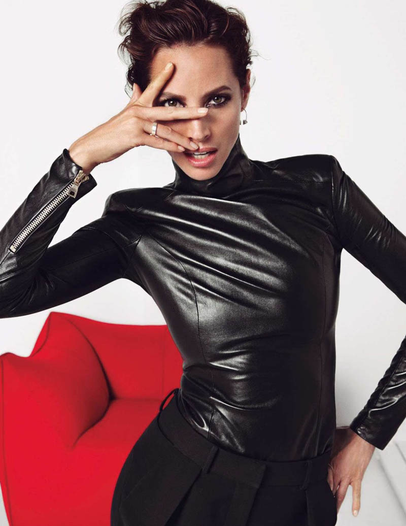 Christy Turlington Gets Clad in Black for Vogue Paris Shoot by Inez & Vinoodh