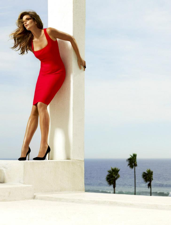 CindyMadison5 Cindy Crawford is Super Glam for Madison Magazines December Cover Shoot by Simon Upton