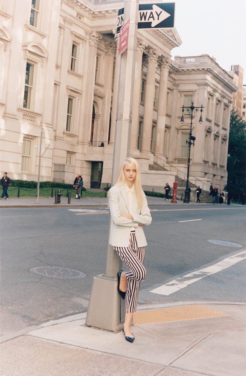 ClubMonaco1 Nastya Kusakina Hits the New York City Streets for Club Monacos Spring 2013 Campaign