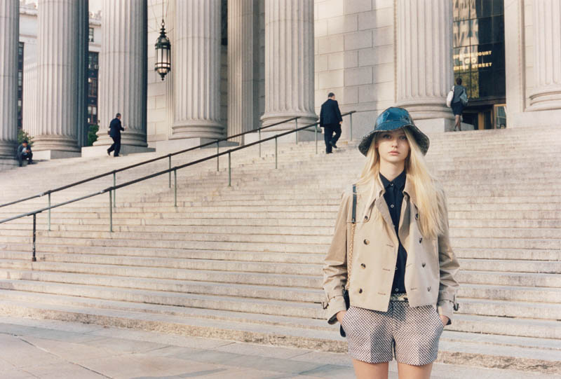 ClubMonaco6 Nastya Kusakina Hits the New York City Streets for Club Monacos Spring 2013 Campaign